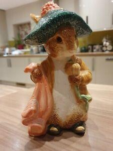 World of Beatrix Potter Benjamin Bunny Money Box 484202 1998 Peter Rabbit