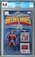 Secret Wars #7 CGC 9.8 (Jan 2016, Marvel) JTC Magneto Action Figure variant