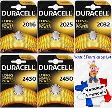 Piles Lithium 3V DURACELL CR 2016 2025 2032 2430 2450 ( x 1 2 5 10 20 30 40 50 )