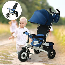 4-in-1 Baby Tricycle Kids Trike Stroller Ride on Push Bike Canopy Toddler