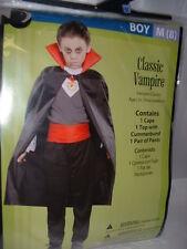 3 pc Childrens Boys Vampire Cape Top Pants Halloween Dress Up Costume M Medium 8
