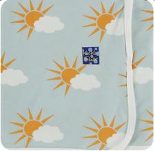 NEW Kickee Pants Swaddling Blanket in Spring Sky Partial Sun