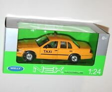 Welly - 'TAXI' 1999 FORD CROWN VICTORIA (Yellow) - Model Scale 1:24