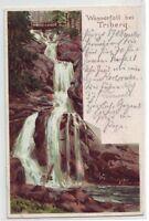 Wasserfall bei Triberg Künstlerkarte 1898 Schwarzwald