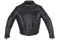 Men's Naked Cowhide Leather Motorcycle Jacket ( Size Large )