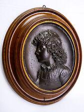 Augusto FELICI (1851) Portrait bronze Italia Roma pontifical Pontificia Lombardy