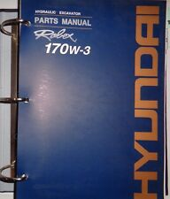 Hyundai 170W-3 Hydraulic Excavator Parts Catalog Book Manual & Binder Original!