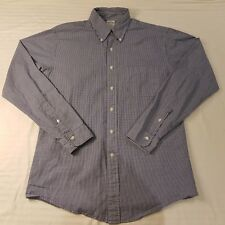Brooks Brothers Mens Size 16.5/36 Long Sleeve Button Collared Shirt Check -HS82