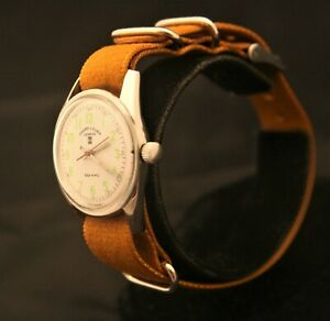 Vintage unisex 1970's Serviced Swiss 17J Favre-Leuba Geneve Sea King wristwatch