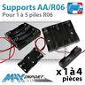 Support piles AA/ LR06 pré-cablé ( R6 LR6 ) - Lots multiples, prix dégressif