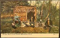 Catskill Mountains NY~A Days Sport~4 Duck Hunters Guns & Hunting Dogs~Postcard