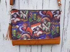 Horror Movie Handbag - Vampire Zombie Monster Comic Frankenstein Bag Brown