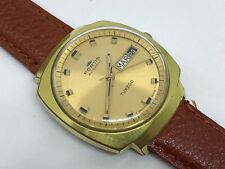Vintage Fortis Automatic Tuxedo Day / Date - 35 mm - Gold Plated