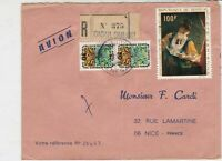 Rep De Senegal 1969 Regd Airmail Oiouloulou Cancel Multi Stamps Cover Ref 30704