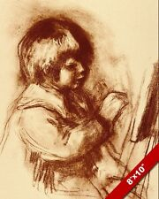 YOUNG CHILD ARTIST PAINTER PAINTING BY AUGUSTE RENOIR ART REAL CANVAS PRINT