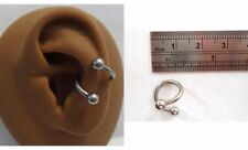 Ring Hoop 14 gauge 14g Surgical Stainless Steel Twist Wrap Conch