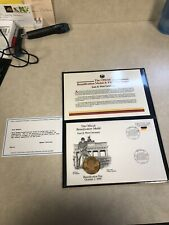 1990 East & West Germany Reunification Medal & First day cover