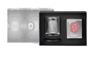 Diptyque Photophore Holder & Roses Candle Set 190g. Valentine Limit Edition.