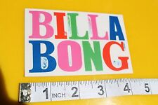 Billabong Billa Bong Rainbow Colorful Surfboards Vintage Surfing Decal STICKER