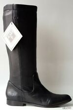 New FRYE 'Cindy' black leather pull-on FLAT BOOTS 8 - classic design