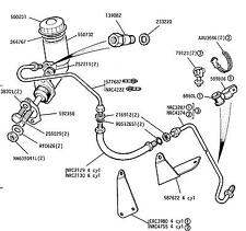 Land Rover Series 2a/3 Clutch Pipe, Master Cylinder to Flexi hose.S2a/3/90&110