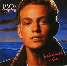"""JASON DONOVAN sealed with a kiss/just call me PWL 39 uk pwl 1989 7"""" PS EX/EX"""