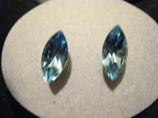 1 Pr LT AQUA BLUE SWAROVSKI elements Austrian Crystal 4200/2 stud earring 15x7mm