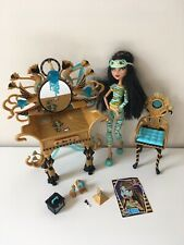 Monster High Cleo De Nile Dead Tired & Vanity Accessory Playset Lot