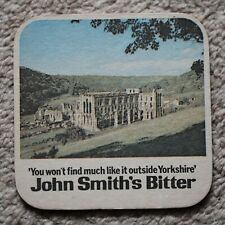 Vintage John Smith's Bitter Beer Mat Rievaulx Abbey / Tadcaster Brewery