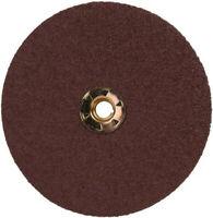4-1//2 Diameter 100 Grit Alumina Zirconia Black Pack of 100 3M Fibre Disc 501C