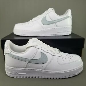 Nike Air Force 1 07 Low Basketball Shoes Womens Size 10 Athletic White Grey