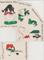 CPA/semaine nationale de l'enfance/lot de 5 cartes postales anciennes / fables