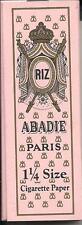 ABADIE PARIS CIGARETTE ROLLING PAPERS 1.25 WIDTH 1 1/4 SIZE 32 LEAVES PER PACK