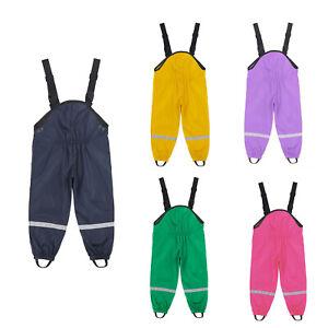 Children Rain Pants Waterproof Trousers Padded Rainwear Windproof Clothes ton`