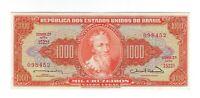 1000 Cruzeiros Brasilien UNC 1963 C106 / P.181 - Brazil Banknote