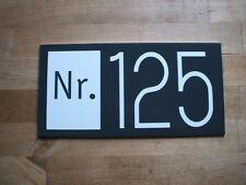 Cartel de nombre número de casa signo de la puerta dibond RAL 7016 200 x 100mm