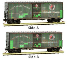 Micro-Trains MTL N-Scale 40ft Box Car Northern Pacific/NP Weathered/Patch #1053