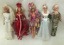 Lot of 5 Foreign International Barbies They Were Produced For Various Markets