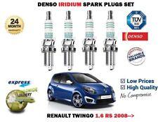 für Renault Twingo 1.6 RS 2008-2014 NEU DENSO Iridium Motor Zündkerzen-Satz