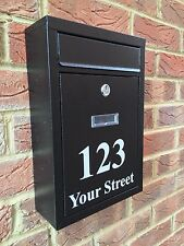 MODERN HOUSE SIGN POST BOX DOOR NUMBER STREET NAME HOUSE NAME POSTAL BOX