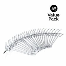 Neiko 53100A 4-Inch Metal Pegboard Hooks 50-Piece Pack New