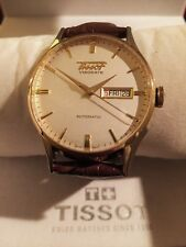 TISSOT VISODATE HERITAGE AUTOMATIC WATCH T019430 SWISS MENS LEATHER