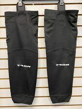 2-Pairs! Tron New Black Senior Adult 30� Nhl Edge Pro Style Hockey Socks