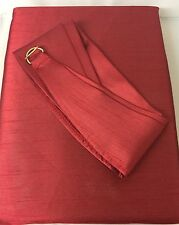 """Faux Silk Java Red Fully Lined Curtains 66"""" x 90"""" (168 x 229 cm) with Tie Backs"""