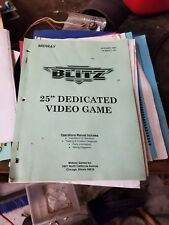 Midway Blitz arcade manual naomi coin op video game machine owners repair