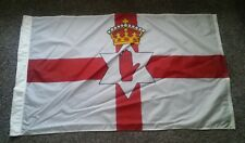 Vintage 1950's Northern Ireland Ulster Flag Advertising Historical History Piece