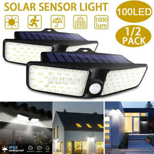 2X 80LED Solar Wall Light PIR Motion Sensor Outdoor Garden Lamp Waterproof