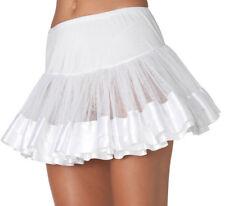 Womens Ladies Sexy White and White Ribbon Petticoat Tutu Skirt Lingerie