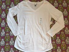 Women's White Old Navy Maternity Shirt Size L