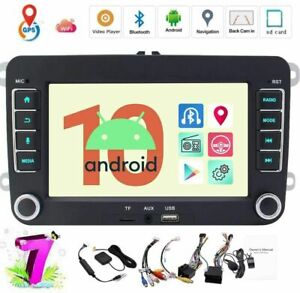 """GPS Android 10.0 7"""" Car Stereo Radio MP5 Player For VW Passat CC Golf MK6"""